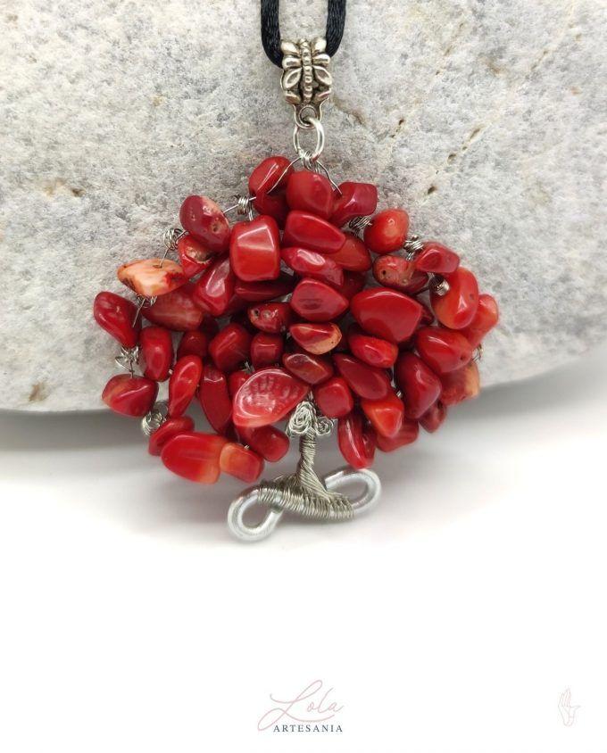 Árbol De Vida Coral Rojo
