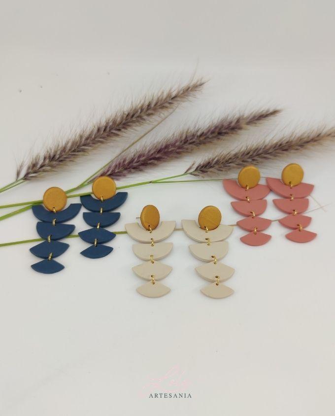 Pendientes Aztecas diseño de artesanía lola